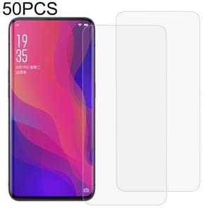 50 PCS 3D Curved Full Cover Soft PET Film Screen Protector for OPPO Find X