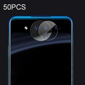 50 STKS Soft Fiber back camera lens film gehard glas film voor vivo NEX Dual display