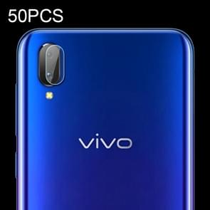 50 PCS zachte Fiber terug camera lens film gehard glas film voor vivo V11 Pro