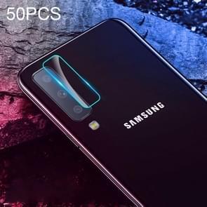 50 PCS Soft Fiber Back Camera Lens Film for Galaxy A7 2018