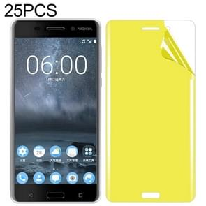 25 PCS For Nokia 6 Soft TPU Full Coverage Front Screen Protector
