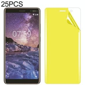 25 PCS For Nokia 7 Plus Soft TPU Full Coverage Front Screen Protector