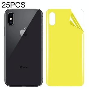 25 PCS For iPhone XS Max Soft TPU Full Coverage Back Screen Protector