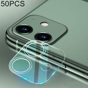 50 PCS For iPhone 11 HD Rear Camera Lens Protector Tempered Glass Film