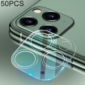 50 stuks voor iPhone 11 Pro HD Achteruitrij camera lens beschermer gehard glas film