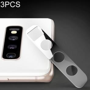 3 PCS 10D Full Coverage Mobile Phone Metal Rear Camera Lens Protection Cover for Samsung Galaxy S10+