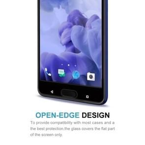 HTC U Ultra Gehard glazen schermprotector 0.3mm 9H hardheid (zwart)
