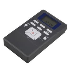 Draagbare Mini frequentiemodulatie Digitaal LCD Display Radio-ontvanger met Oortelefoonaansluiting & Lanyard