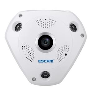 ESCAM Shark QP180 960P 360 graden Fisheye Lens 1.3MP WiFi IP Camera  Support bewegings detectie / Night Vision  IR afstand: 10 m