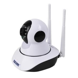 ESCAM G02 720P 1/ 4 inch PTZ WiFi IP-Camera  de opsporing van de motie van de steun / Night Vision  IR afstand: 8m(White)