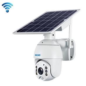 ESCAM QF280 HD 1080P IP66 Waterdichte WiFi Zonnepaneel PT IP Camera zonder batterij  ondersteuning Nachtzicht / Bewegingsdetectie / TF-kaart / Two Way Audio (wit)