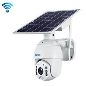 ESCAM QF280 HD 1080P IP66 Waterdichte WiFi Zonnepaneel PT IP Camera met batterij  ondersteuning Nachtzicht / Bewegingsdetectie / TF-kaart / Two Way Audio (wit)