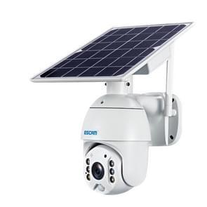 ESCAM QF480 US Version HD 1080P IP66 Waterproof 4G Solar Panel PT IP Camera met batterij  ondersteuning Nachtzicht / Bewegingsdetectie / TF-kaart / Two Way Audio (wit)