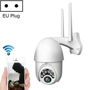 Q10 Outdoor Waterdichte mobiele telefoon op afstand draaien Draadloze WiFi 10 Lichten Full Color Night Vision HD-camera  Ondersteuning Motion Detection Video / Alarm & Recording  EU Plug