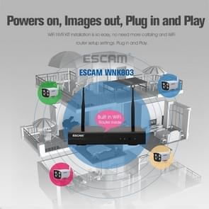 ESCAM WNK803 8CH 720P 1/4 inch CMOS 1.0 Mega Pixel WiFi Bullet IP Camera NVR Kits, Support Night Vision / Motion Detection