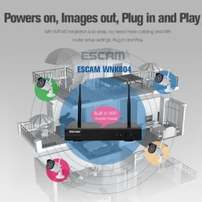 ESCAM WNK804 8CH 720P 1/4 inch CMOS 1.0 Mega Pixel WiFi Bullet IP Camera NVR Kits, Support Night Vision / Motion Detection