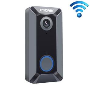ESCAM V6 720P 2.6mm 140 Degree Wide-angle Lens IP65 Waterproof Smart Wireless Video Doorbell without Battery & Chime, Support Infrared Night Vision & APP Push Notification & Free Cloud Storage