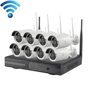 K9608W-PE2013W 8CH HD 960P 1 3 mega pixel 2.4 GHz WiFi IP Bullet camera + NVR Kit