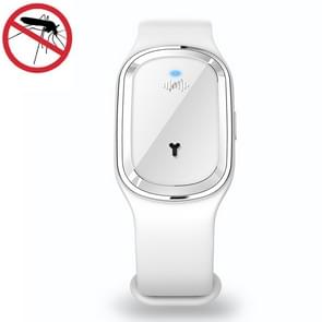 Slimme ultrasone muggenafstotende armband met elektronische klok (wit)