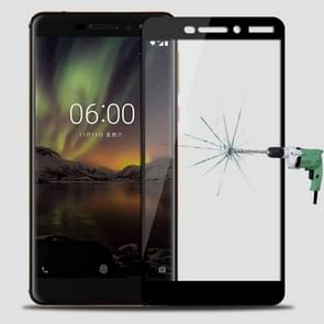 MOFI for Nokia 6 (2018) 0.3mm 9H Surface Hardness 2.5D Arc Edge Full Screen Tempered Glass Film Screen Protector(Black)