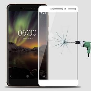 MOFI for Nokia 6 (2018) 0.3mm 9H Surface Hardness 2.5D Arc Edge Full Screen Tempered Glass Film Screen Protector(White)