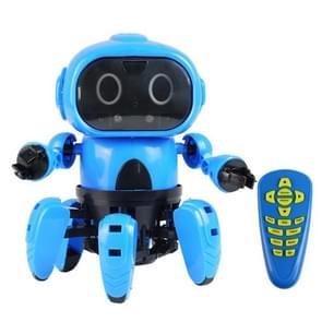 MoFun-963 DIY Assembled Electric Robot Remote Control & Infrared Obstacle Avoidance & Programmable(Blue)