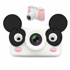 D3 PLUS 1200W Pixel Lens Bear Cartoon Mini Digital Sport Camera with 2.0 inch Screen for Children (Pink)