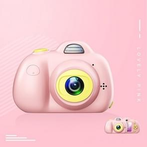 KOOOL-D6 Dual 800W Pixel Lens Digital Sports Small Camera with 2.0 inch Screen for Children, Without Memory(Pink)