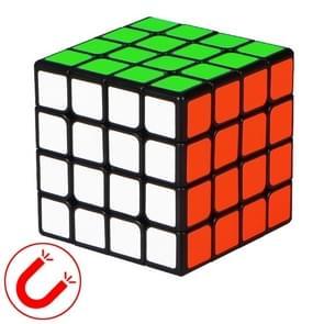 Moyu QIYI M-serie Magnetic Speed Magic Cube vier lagen Kubus puzzel speelgoed (Zwart)