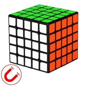 Moyu QIYI M-serie Magnetic Speed Magic Cube Vijf lagen Kubus puzzel speelgoed (Zwart)