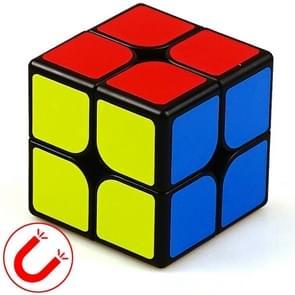 Moyu Mr. M-serie magnetische kubus twisty puzzel speelgoed twee lagen kubus puzzel speelgoed (Zwart)