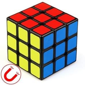 Moyu Mr. M-serie magnetische kubus twisty puzzel speelgoed drie lagen kubus puzzel speelgoed (Zwart)