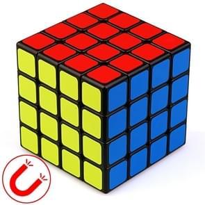 Moyu Mr. M-serie magnetische kubus twisty puzzel speelgoed vier lagen Kubus puzzel speelgoed (Zwart)