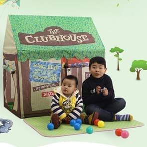 Huishoudelijke kinderen afdrukken spelen tent klein spelhuis met mat (groen)