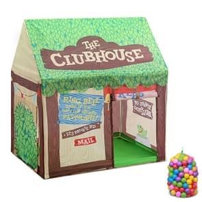 Huishoudelijke kinderen afdrukken spelen tent klein spelhuis  met 50 Oceaan ballen (groen)