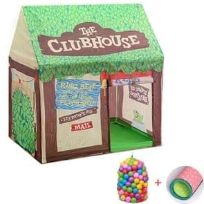 Huishoudelijke kinderen afdrukken spelen tent klein spelhuis met 50 Oceaan ballen & mat (groen)