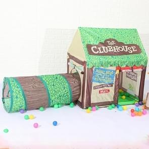 Huishoudelijke kinderen afdrukken spelen tent klein spelhuis met doorgang (groen)