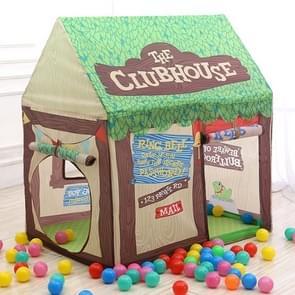 Huishoudelijke kinderen afdrukken spelen tent klein spelhuis (groen)