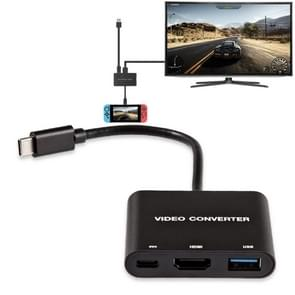 DOBE TNS-1764 Type-C / USB-C to HDMI Adapter Video Converter for Nintendo Switch (Black)