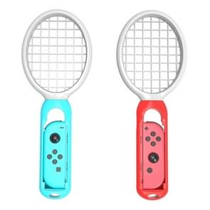 2 PCS Tennis Racket Handle Holder Grip Drumstick with Wrist Strap for Nintendo Switch Joy-con(White)