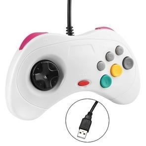 USB Computer Game Handle Controller for Sega Saturn (White)