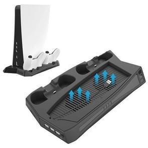 KJH P5-010 verticale oplaadstandaard met koelventilator voor PS5 De / UHD