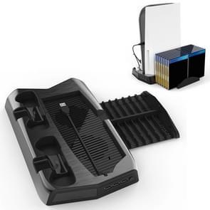 KJH P5-010-2 Multifunctioneel opladende koelfanbase met opslagladebeugel voor PS5 De / UHD