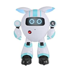 JJR/C R14 Children Intelligent Early Education Robot Learning Story Machine with Remote Control, Support Touch Mode(Blue)
