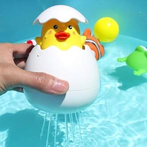 3 PCS 1768B Duck Egg Shape Plastic Children Baby Animal Shower Swimming Bathroom Water Spray Toy, Random Colors