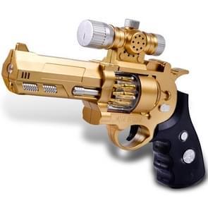 Children Electric Toy Gun Simulation Plastic Pistol Projection Voice Vibrating Gun, Random Color Delivery