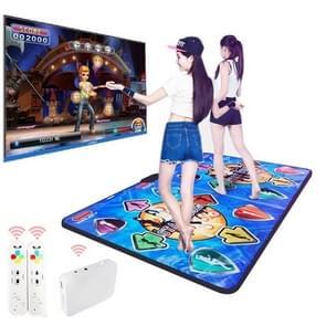 HD draadloze dubbele PVC dansen deken TV computer dual-use somatosensorische dansen machine (blauw)