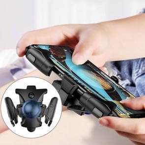 Non-slip Alloy Separable Button Mobile Phone Game Shooting Gamepad  Support Burst Mode  geschikt voor 4 7-6 5 inch mobiele telefoons (Zwart)