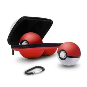 2 in 1 Portable Carrying Bag Hard EVA Zip Case for Nintendo Switch Poke Ball Plus Controller, with Keychain