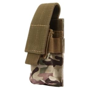 M5 multifunctionele Outdoor sporten Mini Draagbare zaklamp beschermende dekking / zak  maat: 15 x 4.7 x 2 cm (donkerrood)